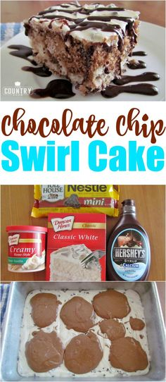 Chocolate Chip Marble Swirl Cake Recipe from The Country Cook