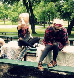 Grunge style in the park
