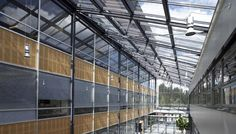 Stainless steel and #glass in Outokumpu head office in Espoo, Finland. Facade features Pilkington Suncool™ 66/33 high performance solar control glass. #architecture