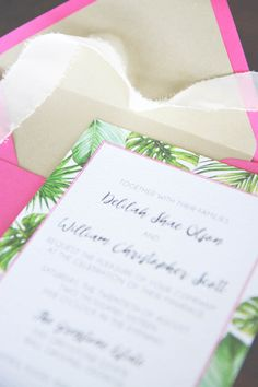 Tropical Wedding Inv