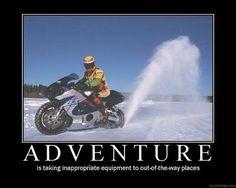 (De)Motivational Motorcycle Poster