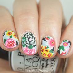 Paint All The Nails Does Floral