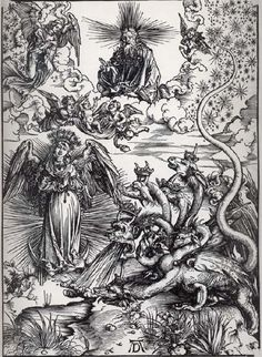 Albrecht Durer; The Apocalyptic Woman and the Seven-Headed Dragon