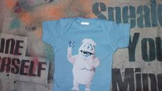 Bumble baby onesie the Abominable Snow Monster Snowman light blue