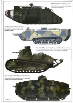 танки первой мировой Ww1 History, Military History, Ww1 Tanks, Military Armor, Armored Fighting Vehicle, Military Equipment, World War One, Panzer, Armored Vehicles