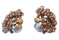 1940s Seed Pearl Earrings on OneKingsLane.com from Maxwell's 9.13.34.  Sold!