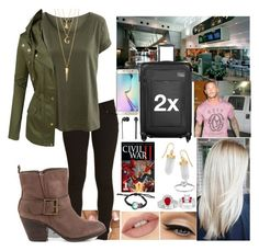 """Flying to San Jose, CA *Read Description*"" by sarahiraldo ❤ liked on Polyvore featuring H&M, Fergie, STELLA McCARTNEY, LE3NO, BERRICLE, LoveStories, Tumi, Allurez, Modern Bride and Samsung"