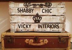 Cassette Legno Non Solo Frutta Shabby Chic Vicky Interiors