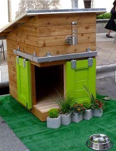 Cool dog houses.