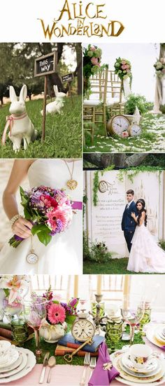 Alice In Wonderland Inspired Fairytale Wedding Inspiration