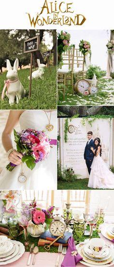 Alice In Wonderland Inspired Fairytale Wedding Inspiration
