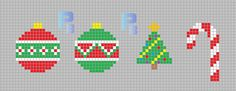 Christmas ornaments perler pattern - Patrones Beads / Plantillas para Hama