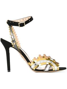 Shop Charlotte Olympia laser cut detail sandals in Fashion Clinic from the…