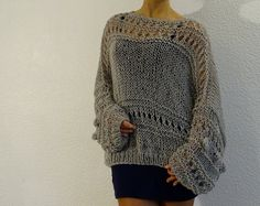 Oversized knit sweater, Womens pullover sweater, Oversized ...