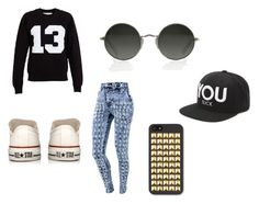 """""""Başlıksız #75"""" by nehirsanlidag ❤ liked on Polyvore featuring Filles à papa, Converse and Civil"""