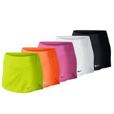 Featuring built-in compression shorts to ease your movement as you glide narturally on the court, you can't go wrong with the Nike Women's Straight Court Tennis Skirt. Its Poly/Spandex blend with Dri-FIT technology is guaranteed to keep you dry and secure on the court. Inner mesh waistband gives you more breathing room while holding skirt firmly in place. Plus its two-way spandex fabric increases mobility. #newnike #nike #tennis #tennisskirts #womenstraining