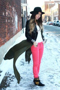 Bewolf Blog..#leather jacket #jeans #hat http://bewolffashion.blogspot.ca/