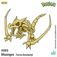 Missingno forma Aerodactyl by on DeviantArt Pokemon Regions, Oc Pokemon, Fossil Pokemon, Pokemon Red Blue, Pokemon Pictures, Tmnt, Creatures, Deviantart, Writing