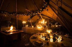 Cosy tipi wedding reception #autumnwedding. John Steel Photography, Totally Tipi, Horticouture, Chilled Events, The Whole Hog UK