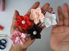 Florzinhas na presilha com a fita de cetim N°05 - YouTube