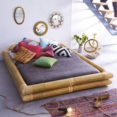love this bamboo bed by tikamoon.