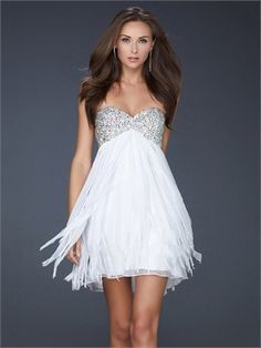 Strapless Beaded Sweetheart Neckline Layered Chiffon Prom Dress PD10718