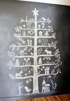 Easy Ideas for Handmade Christmas Decor. Spread holiday cheer with these Wall Christmas Tree - Alternative Christmas Tree Ideas and other holiday ideas. Wall Christmas Tree, Creative Christmas Trees, Noel Christmas, All Things Christmas, Winter Christmas, Christmas Decorations, Wall Decorations, Christmas Countdown, Handmade Christmas