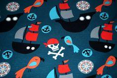 NB16 7562-024 Tricot piraterij donker zeegroen