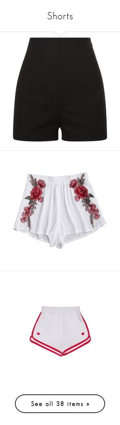 """Shorts"" by unicornchaby ❤ liked on Polyvore featuring shorts, bottoms, pants, short, black, highwaist shorts, high waisted cotton shorts, high waisted short shorts, high rise shorts and la perla"
