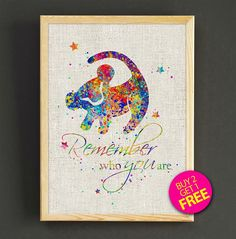 Disney Lion King Simba Quote Art Print Watercolor - Buy 2 Get FREE  -------------------------------------------------------------------------  How to get