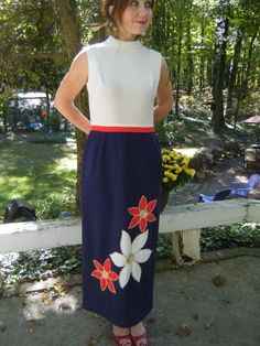 Vintage 60's/70's Mod Red White Blue usa  by VansVintageTreasures, $110.00