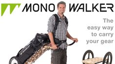 The Monowalker - the versatile transportation device designed to suit every walking, hiking, shopping, biking, and backpacking venture.