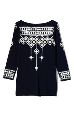 Tory Burch Embroidered Flora Top $495
