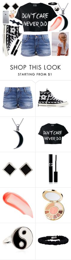 """""""✨I don't care, I love it✨"""" by lexi-loves-fashion ❤ liked on Polyvore featuring Converse, Carolina Glamour Collection, Yvel, Sisley, NARS Cosmetics, tarte, Accessorize, Valentino and Prada"""