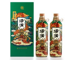 Tanggou White Wine on Packaging of the World - Creative Package Design Gallery Wine Bottle Design, Wine Design, Medicine Packaging, Bottle Packaging, Bussiness Card, Vintage Graphic Design, Oriental Design, Creative Posters, Packaging Design Inspiration