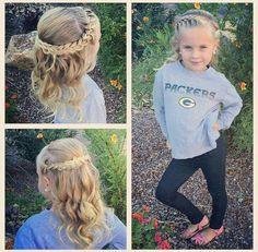 Perfect for my ryegirl - Hair Tutorials Little Girl Wedding Hairstyles, Girls Hairdos, Lil Girl Hairstyles, Princess Hairstyles, Girls Braids, Braided Hairstyles, Easy Toddler Hairstyles, Hair Trends, Hair Inspiration