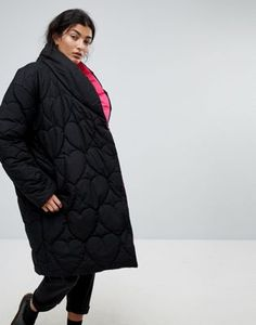 Lazy Oaf Oversized Padded Jacket With Contrast Lining