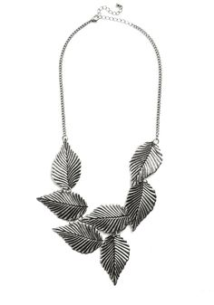 Leafing Town Necklace in Silver, #ModCloth