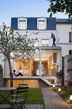 House in Vincennes , France.  Architects: AZC Photographs: Sergio Grazia #renovation #addition #extension