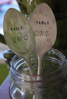 Vintage Silverware Table Number Markers For Wedding Reception