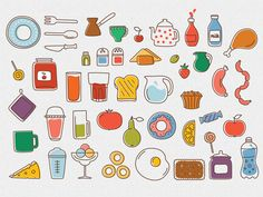 Illustrations for Kitchen game