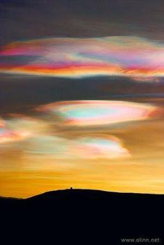 ღღ Rainbow Nacreous Clouds - Iceland by sherri