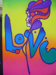 Peter Max art. I had a set of Peter Maxx sheets on my twin size bed & loved the hell out them.