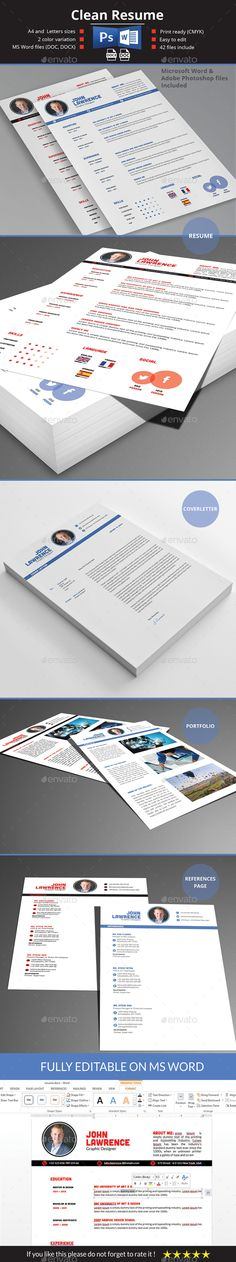 Resume — Photoshop PSD #cv #doc • Available here → https://graphicriver.net/item/resume/13109237?ref=pxcr