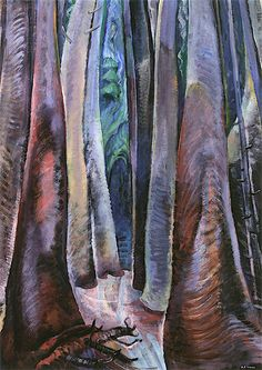 Deep in the Forest - Emily Carr - The Athenaeum Canadian Painters, Canadian Artists, Emily Carr Paintings, Group Of Seven Paintings, Tom Thomson, Call Art, Deep Forest, Impressionist Paintings, Art Club