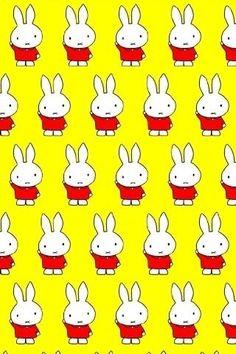 Miffy on repeat Kawaii Illustration, Book Illustration, Illustrations, Textures Patterns, Print Patterns, Kids Patterns, Miffy, Kawaii Cute, Stuffed Animal Patterns