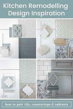 Designing a kitchen is no small feat. So, let us help you with some interior design inspiration. We'll show you how to pair your tile with countertops & cabinets. Interior Design Boards, Interior Design Inspiration, Design Ideas, Kitchen Redo, Kitchen Design, Cabinets And Countertops, House Color Schemes, Cuisines Design, Home Remodeling