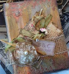 Wedding Guestbook  English Rustic Country by youruniquescrapbook, £89.95