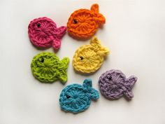Rainbow Fish Applique-Great for Hair Clips and Accessories