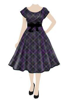 #Retro  #Rockabilly  #plaid  #dress